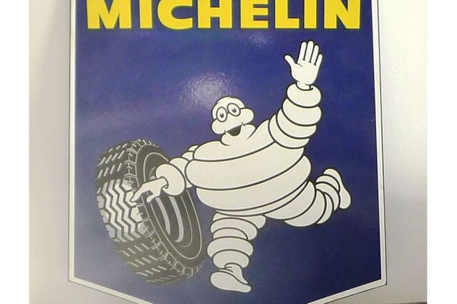 Enamel Sign - Michelin Shield Double Sided (80 x 65cm)