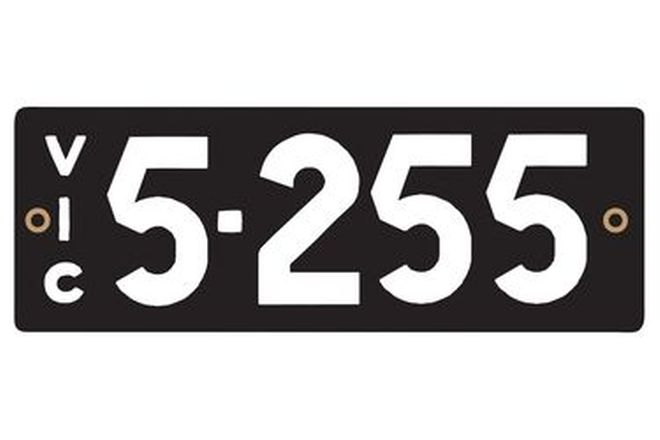 Victorian Heritage Numerical Number Plates '5.255'