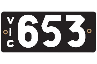 Victorian Heritage Numerical Number Plate - 653