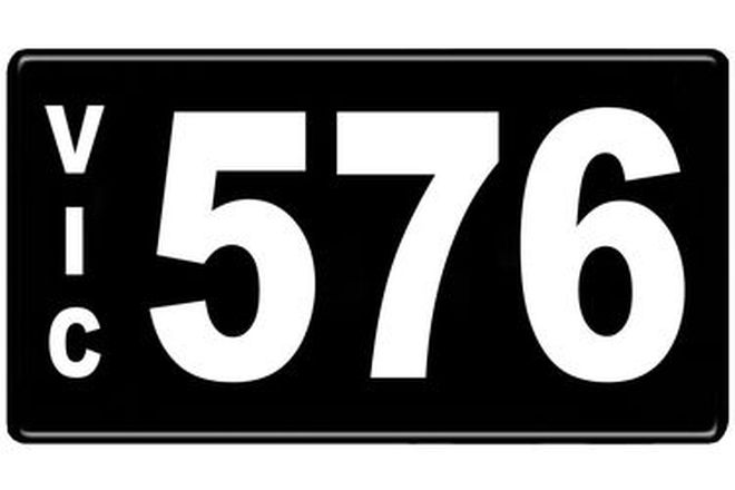 Number Plates - Victorian Numerical Number Plates '576'