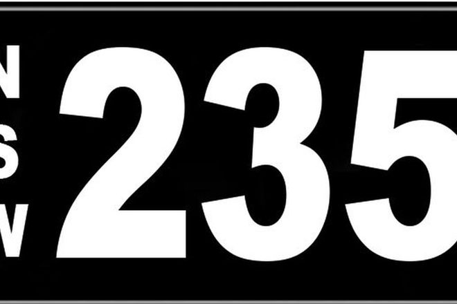 Number Plates - NSW Numerical Number Plates '235'