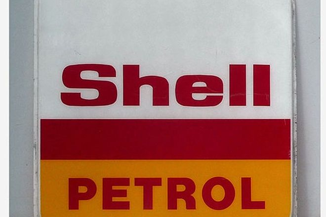 Sign - Shell Petrol in Acrylic (180 x 180cm)