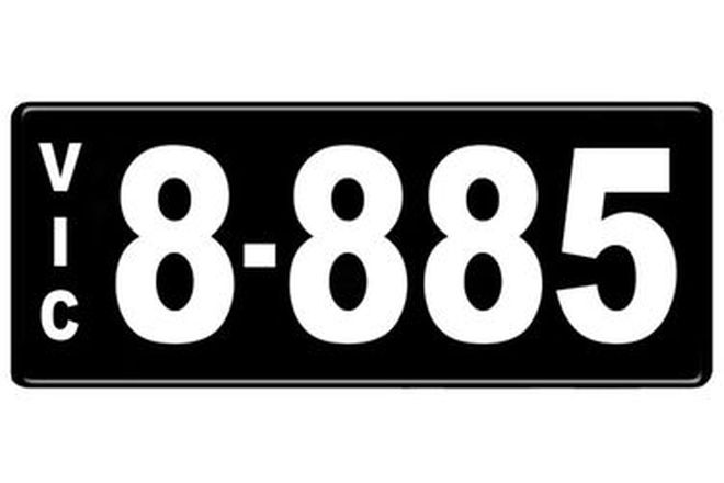 Number Plates - Victorian Numerical Number Plates '8.885'