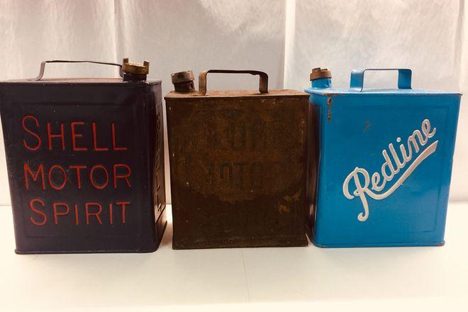 Vintage Petrol Cans ? Shell, Plume, Redline