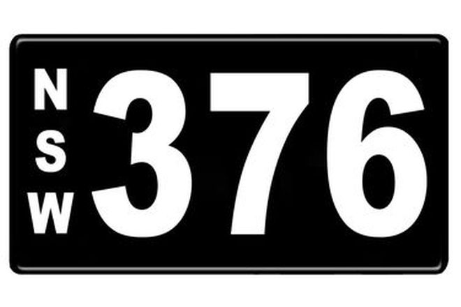 Number Plates - NSW Numerical Number Plates '376'