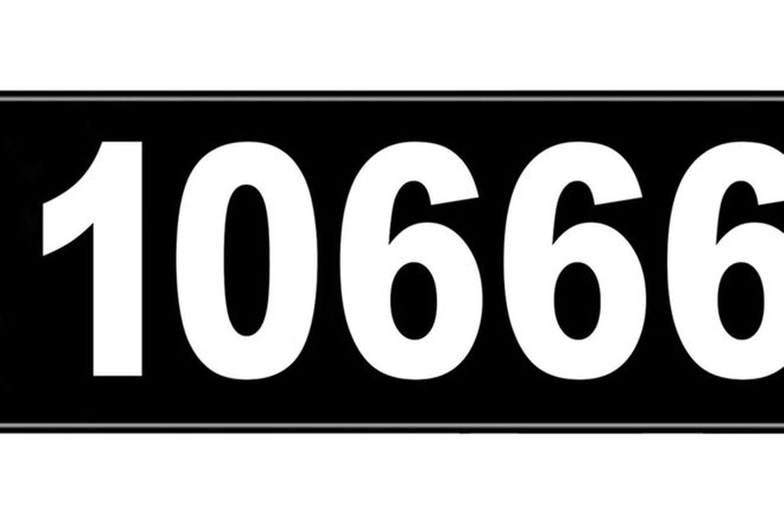 Number Plates - NSW Numerical Number Plates '10666'