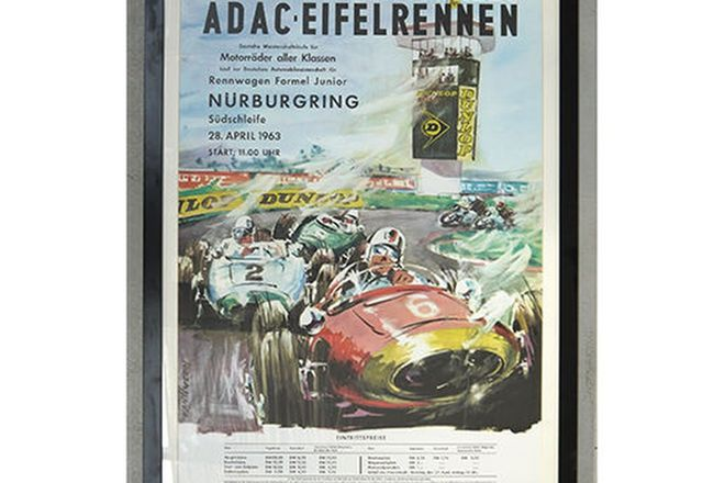 Framed Print - XXVI International ADAC Eifel Race - 28 April 1963 'Nurburgring' (95 x 68cm)