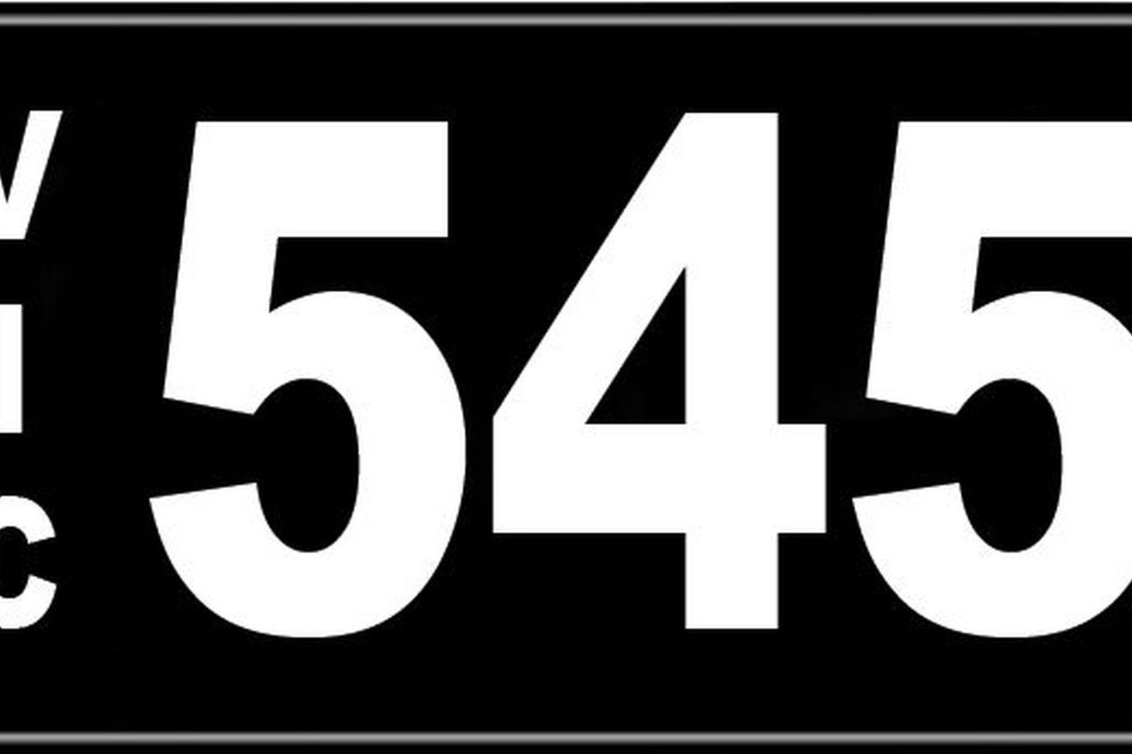 Number Plates - Victorian Numerical Number Plates - '545'