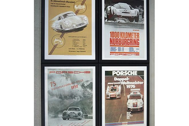 Framed Prints - 4 x Porsche European Events Race Prints (70 x 53cm)