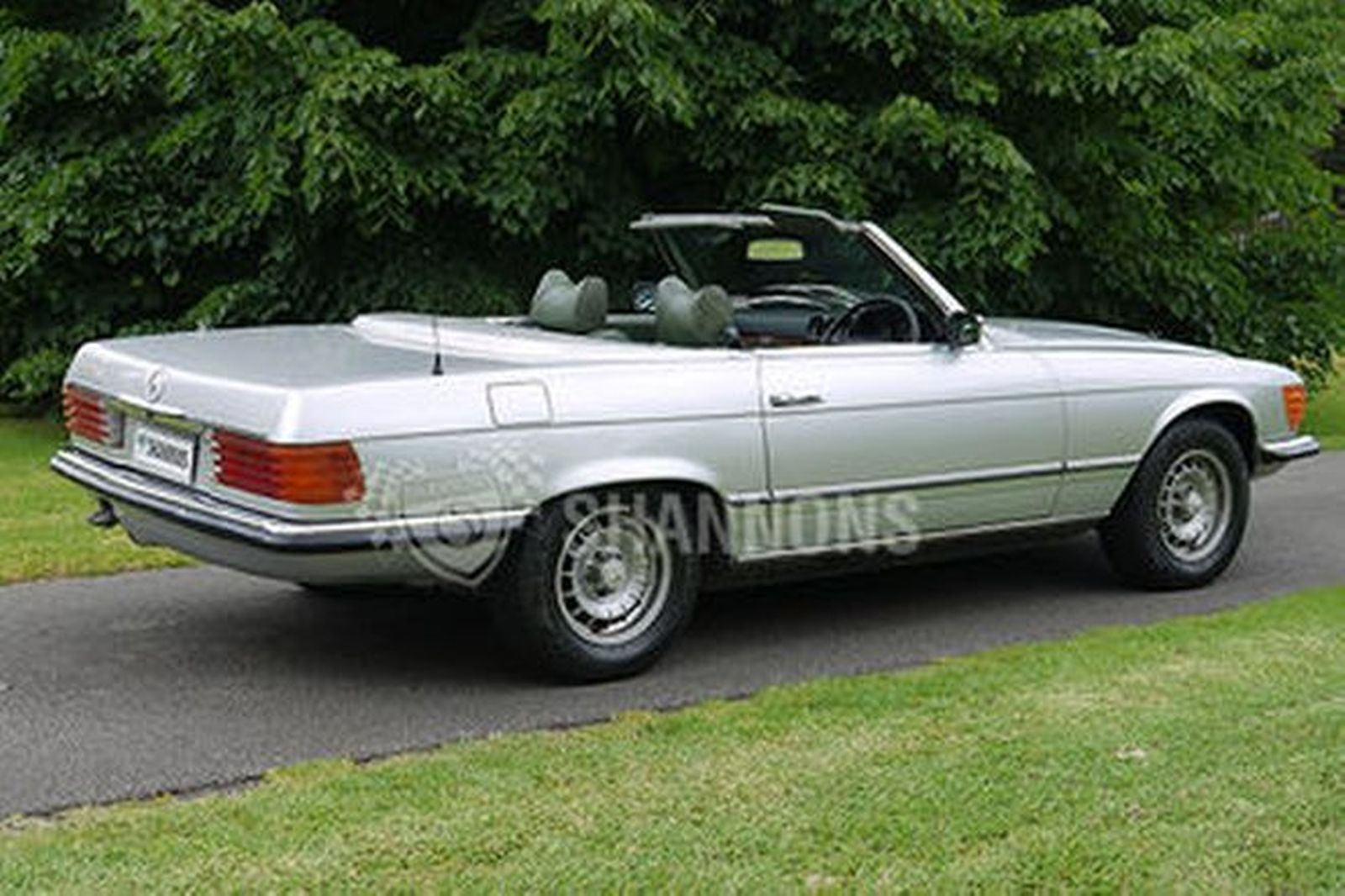 sold mercedes benz 350sl 39 modified 39 convertible auctions. Black Bedroom Furniture Sets. Home Design Ideas