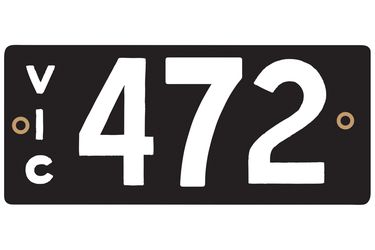 Victorian Heritage Plate '472'