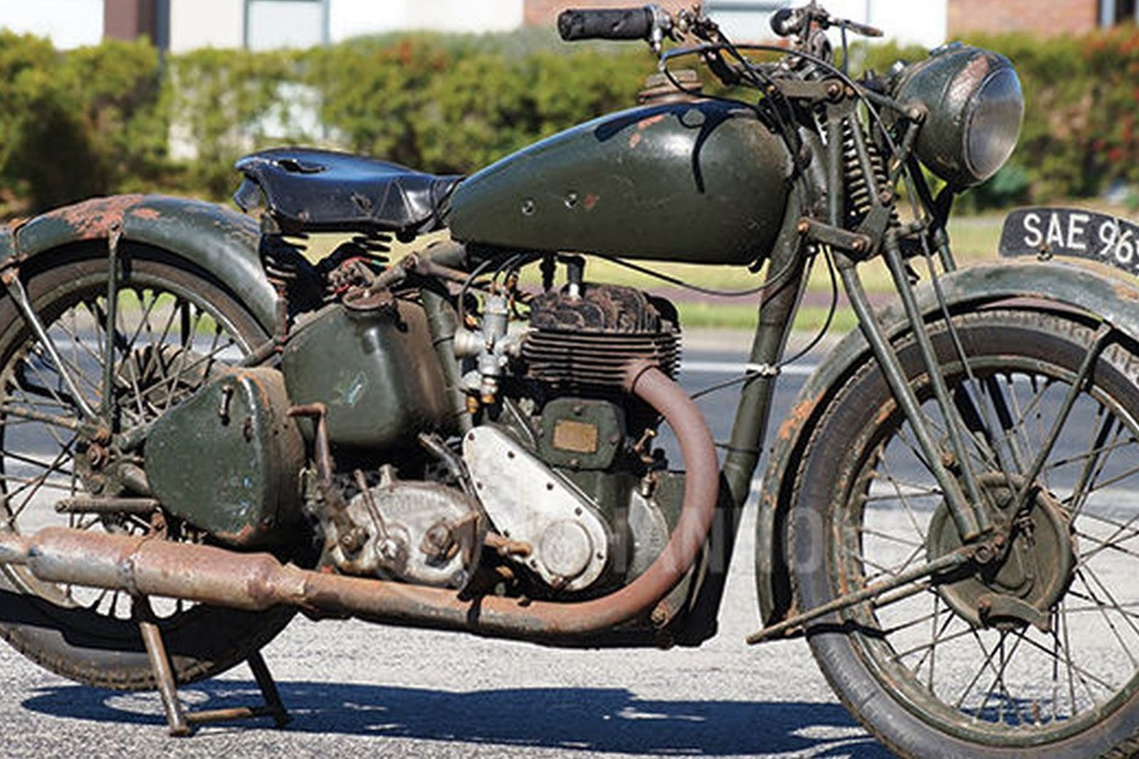 Sold bsa m20 500cc motorcycle auctions lot 26 shannons for Motor vehicle open on saturday