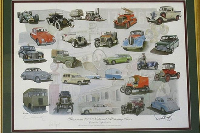 Framed Signed Print - Shannons 2001 National Motoring Tour