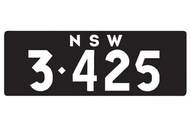 Number Plates - NSW Numerical Number Plates '3425'