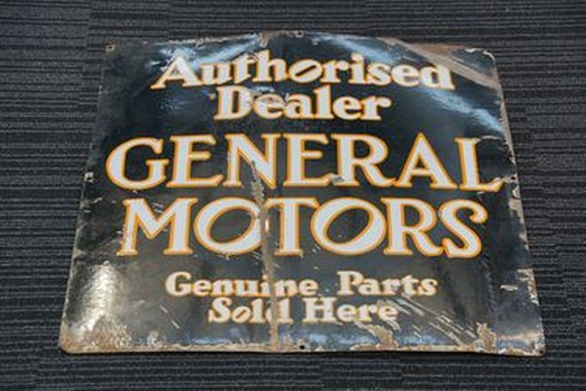 Enamel Sign - Authorised Dealer General Motors (70 x 70cm)