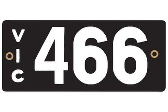 Victorian Heritage Numerical Number Plate - 466