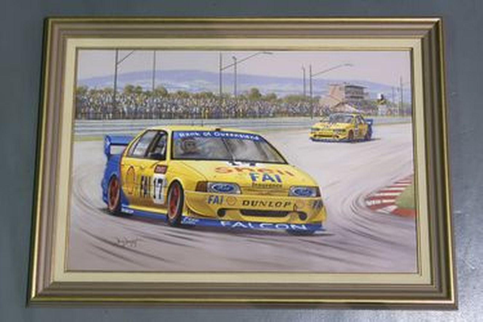 Framed Painting - 'Masters of the Mountain': Dick Johnson & John Bowe by Brian Baigant (110 x 80cm)