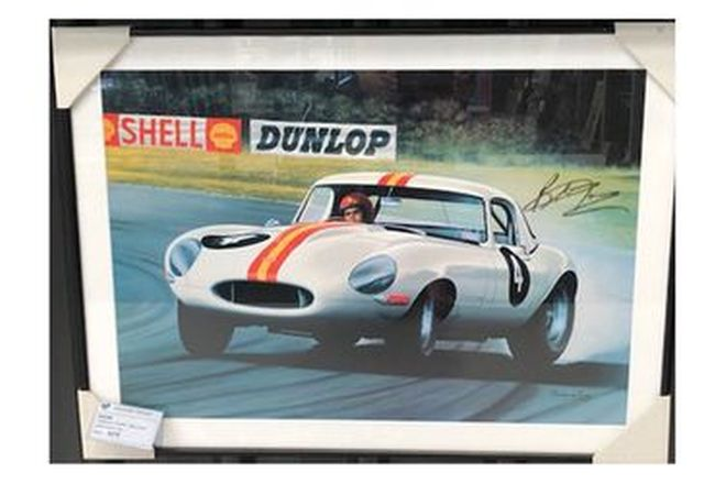 Frame Painting - E-Type Jag - Bob Jane Light Weight (Dunlop)