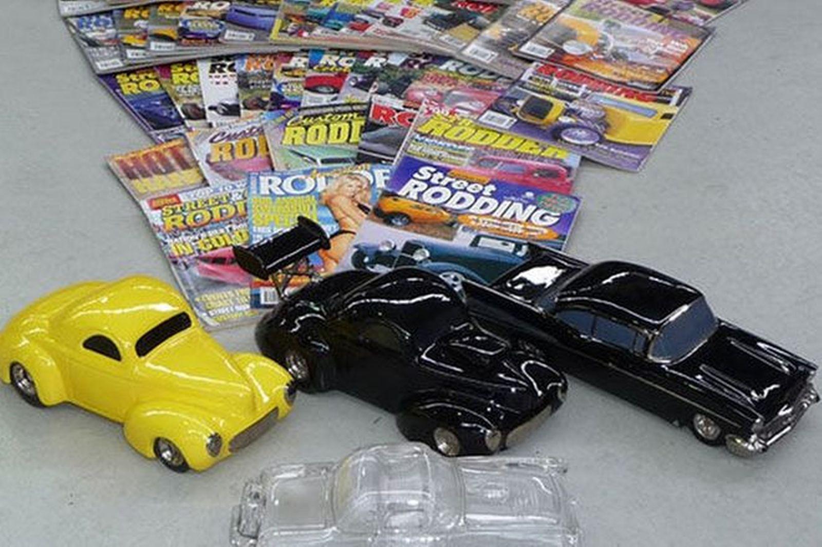 Sold Model Cars Magazines 1957 Chevrolet 1955 Thunderbird 2 Hot Rod Rods 40
