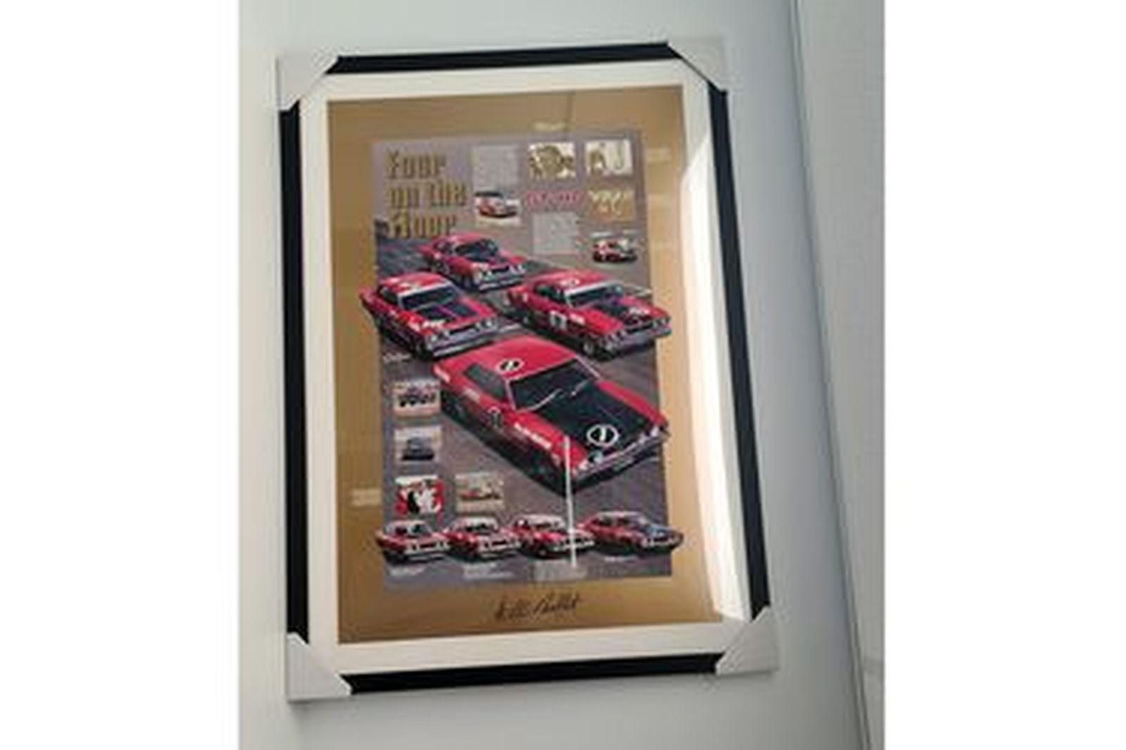 'Four of the Floor' - Ford Falcon GT-HO 1, 2, 3, 4 Large Print. Autographed by Allan Moffat