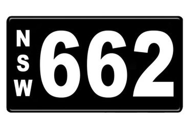 Number Plates - NSW Numerical Number Plates '662'