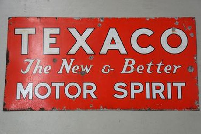 Enamel Sign - Texaco Motor Spirit (Large) (6 x 3ft)