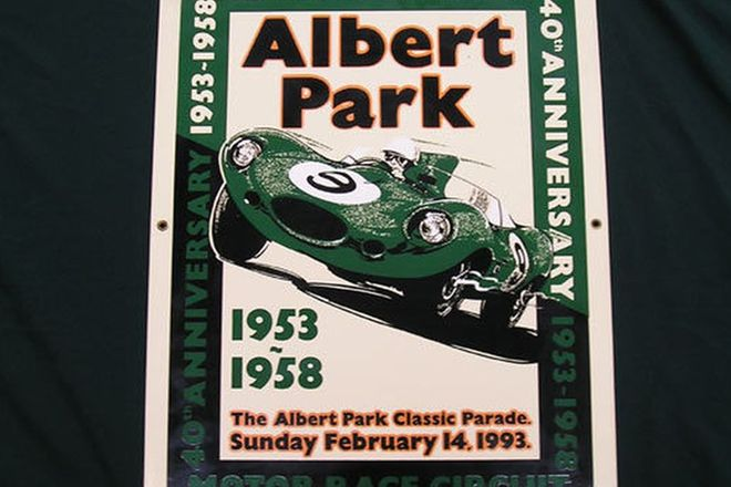 Enamel Sign - 40th Anniversary of Albert Park 88/100