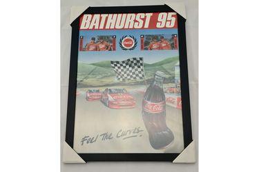 'Bathurst 95 - Feel the curves' Framed Poster (468W x 645H)