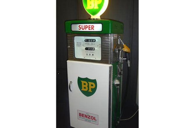 Cabinet - c1960's Wayne 605 Petrol Pump Storage Cabinet in BP Livery