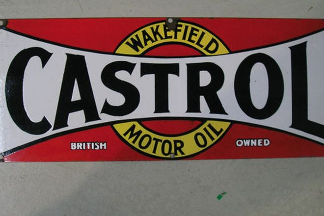 Enamel Sign - Castrol Wakefield  (2' x 10