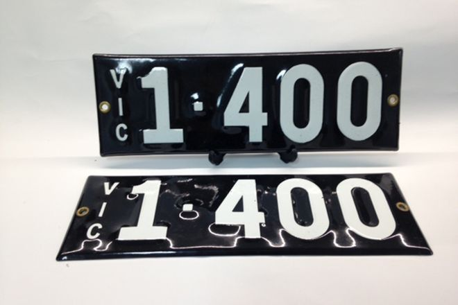 Victorian Numerical Heritage Plate - '1400'