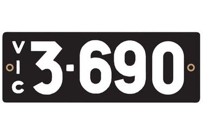 Victorian Heritage Number Plates '3.690'