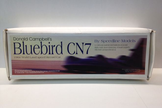 Bluebird Cn7 1964 land speed Record Car Plastic Model Kit 1/20th Scale