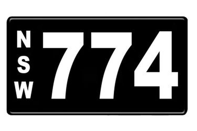 Number Plates - NSW Numerical Number Plates '774'
