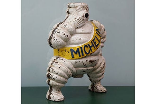 Michelin Man Cast steel from large compressor (35cm tall)
