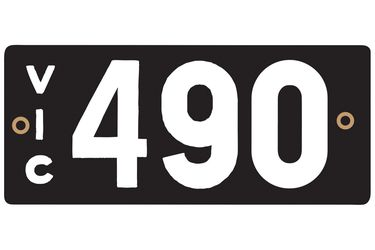 Victorian Numerical Heritage Plate '490'