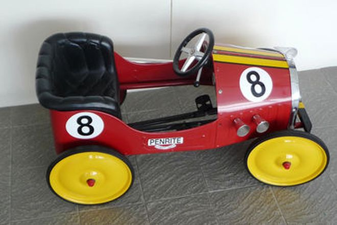 Pedal Car - Race Replica Metal Pedal Car and Car Trailer