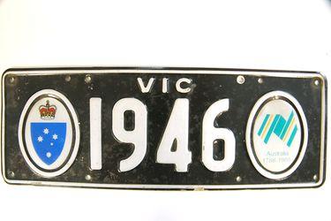 Victorian Bicentennial Number Plates - 1946