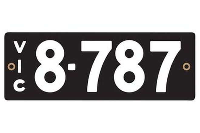 Victorian Heritage Numerical Number Plates '8.787'
