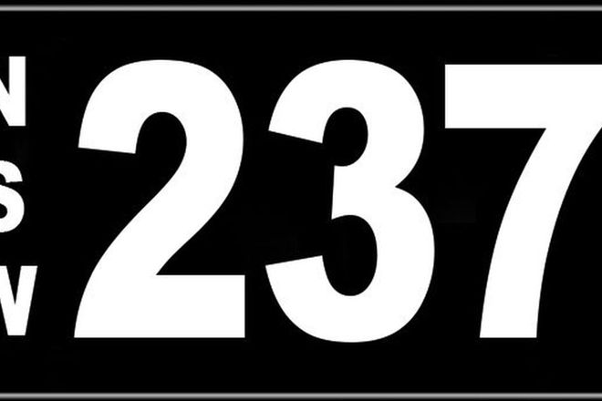 Number Plates - NSW Numerical Number Plates '237'