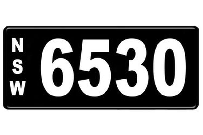 Number Plates - NSW Numerical Number Plates '6530'