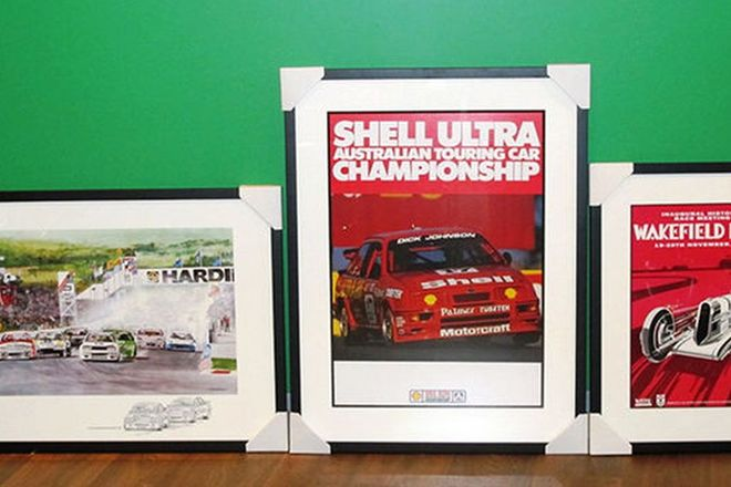 Framed Posters - 3 x Framed Historic Racing Posters