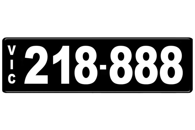 Number Plate - Victorian Numerical Number Plate - 218.888