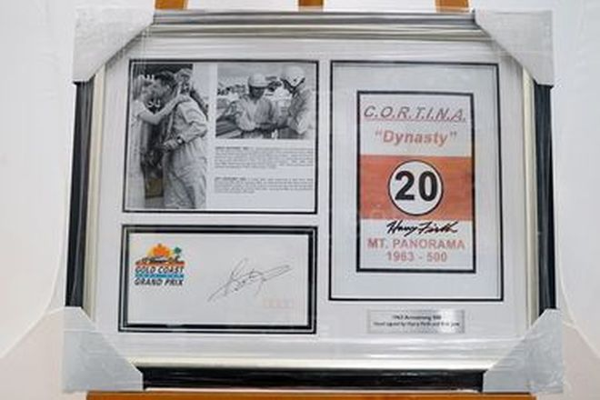 Framed Photo -1963 Armstrong 500 signed by Harry Firth