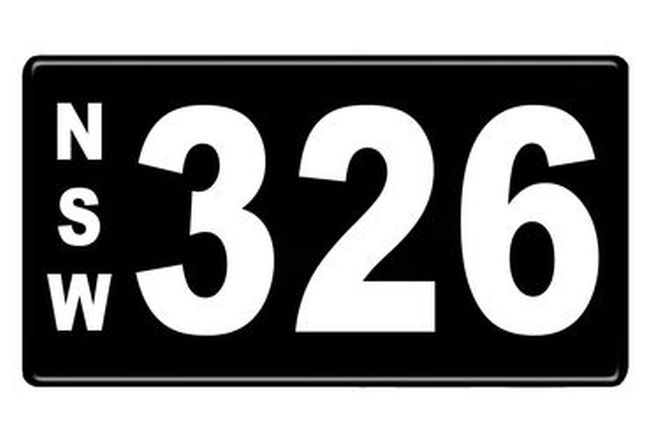 Number Plates - NSW Numerical Number Plates '326'