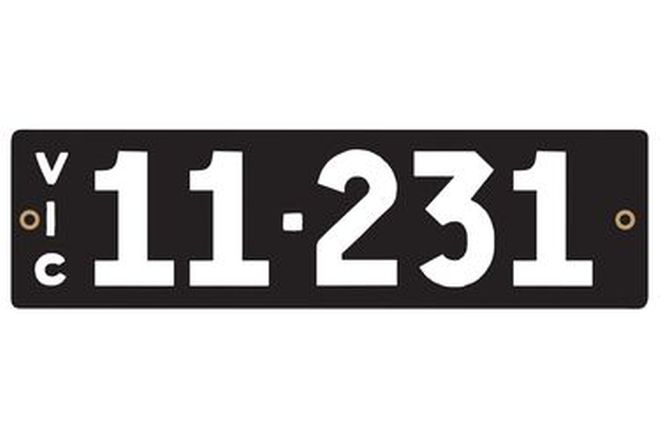 Victorian Heritage Numerical Number Plates '11.231'