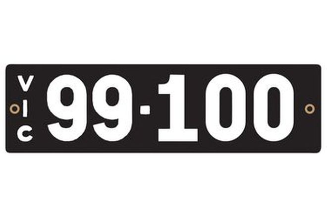 Victorian Heritage Numerical Number Plates '99.100'