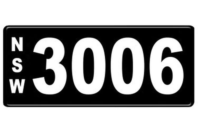 Number Plates - NSW Numerical Number Plates '3006'