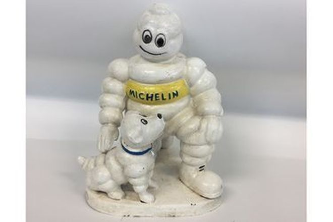 'Repro' Michelin Man and Michelin Puppy statue