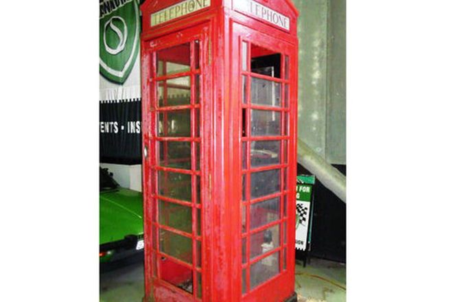 Telephone Box -  UK red telephone box circa 1936-1970